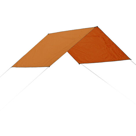 Carpa de sombra a prueba de agua Canopy Sun Shelter Outdoor Beach Camping 300X300cm Orange