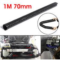 Extractor de transferencia de enfriamiento de coche frío o caliente de manguera flexible de manguera de aire negra de 70 mm