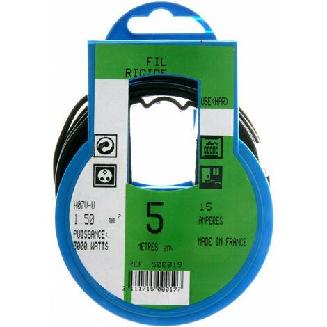 COURONNE 5M HO7V-U 1,5 NOIR PROFIPLAST PRP500019