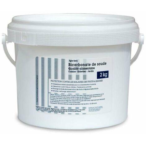 Bicarbonate de soude. Qualité alimentaire. Pour le jardin et la maiso - Seau 2 kg