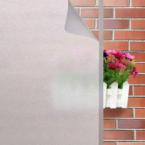 Film Fenetre Anti Regard Occultant Fenêtre Film Electrostatique Opaque pour Vitre Brise Vue Fenetre Bureau Maison Salle de Bain Chambre Cuisine(60 * 200)