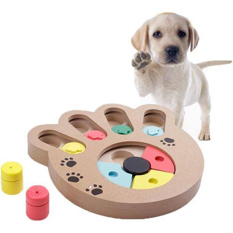 Jeu d'intelligence pour Chien Jeu de Stratégie Toy IQ Training interactif Cache-Cache Essen langsame Fütterung Bois Pet Puzzle pour Chien et Chat