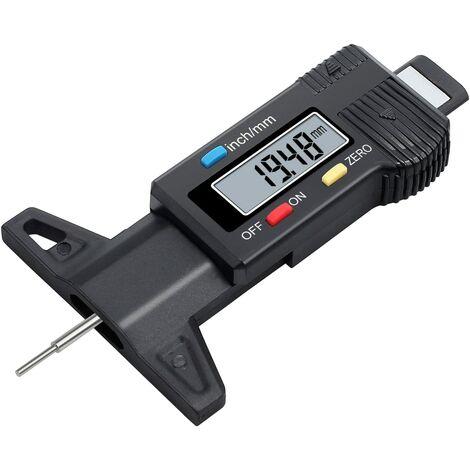 Numérique de Pneu-Jauge Digital Pneu Jauge de Profondeur LCD Metrique/Pouce Checker Testeur de Moto Voiture