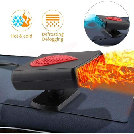 Chauffage Voiture Ventilateur 12V, Hiver RéChauffeur de Voiture avec Purification Portable Pare-Brise Désembueur Ventilateur de Dégivrage avec Chauffage Rapide, Faible Bruit,Rotation à 360°