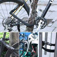 Chaîne Antivol Vélo à Code 5.7mm x 90cm, Cadenas de Vélo à 5 Chiffres, Alliage de Zinc Serrure à Combinaison, Serrure à Chaîne Haute Sécurité pour Vélo, Moto, Scooter