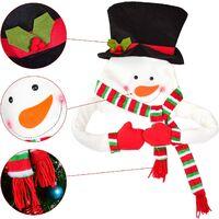 Décoration de sapin de Noël avec bonhomme de neige et bonhomme de neige