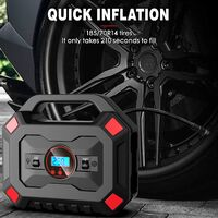 Compresseur d'Air Portatif 12V Compresseur d'air Numérique Portable Auto 120W Gonfleur Pneus Électrique 120PSI 30L / Min avec Lampe LED Écran LCD 3M Câble pour Voiture Vélo Moto Ballon