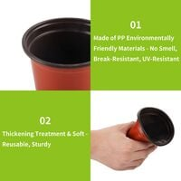 100 Pcs Plastique Plante Pots, 10 cm Semis en Plastique Pots de Fleurs avec Étiquettes Plantes Pépinières Fleur Plante Conteneur