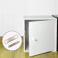 Loquets Magnetiques pour armoires, Paquet de 4 Loquet Magnetique, Ferme porte en acier inoxydable de 40 kg, Verrous magnétiques pour armoires (01A)