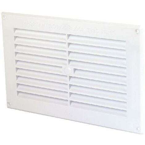 """White Plastic Air Vent Grille Cover - 9"""" x 9"""""""
