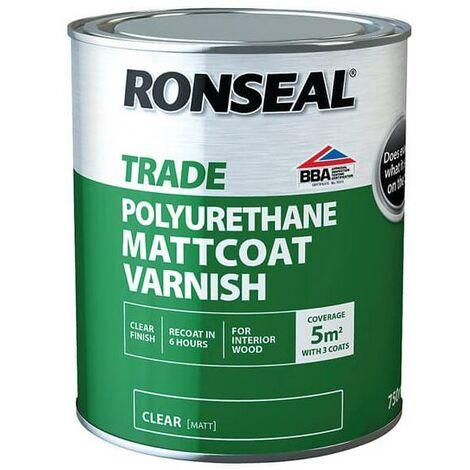 Ronseal Trade Varnish - Matt Coat - 750ml