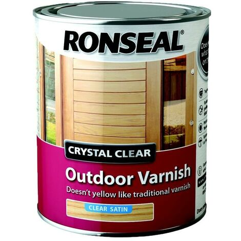 Ronseal Trade Crystal Clear Exterior - Varnish Satin - 750ml