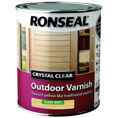 Ronseal Trade Crystal Clear Exterior - Varnish Matt - 750ml