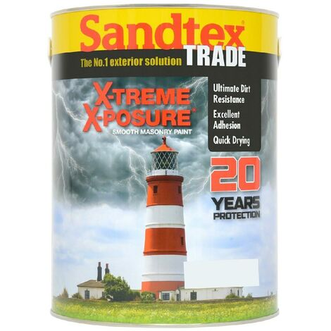 Sandtex X-Treme X-Posure Smooth Masonry Paint Brilliant White - 5L