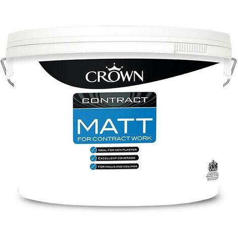 Crown Contractors Contract Matt - Brilliant White - 10L