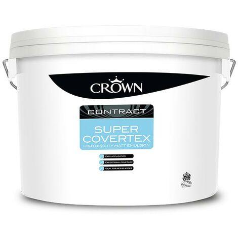 Crown Contract Super Covertex Matt Emulsion - Magnolia - 15L