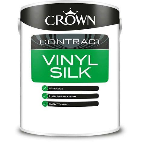 Crown Contractors Vinyl Silk - Brilliant White - 5L