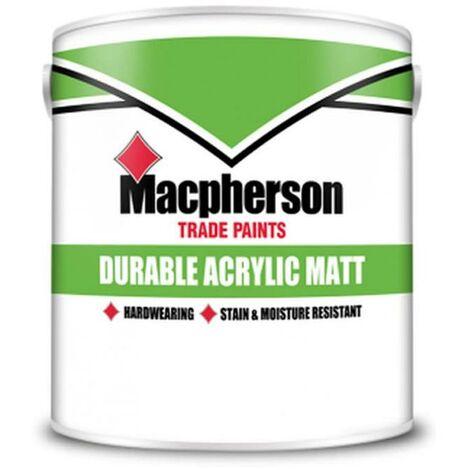 Macpherson Durable Acrylic Matt - Brilliant White - 5L