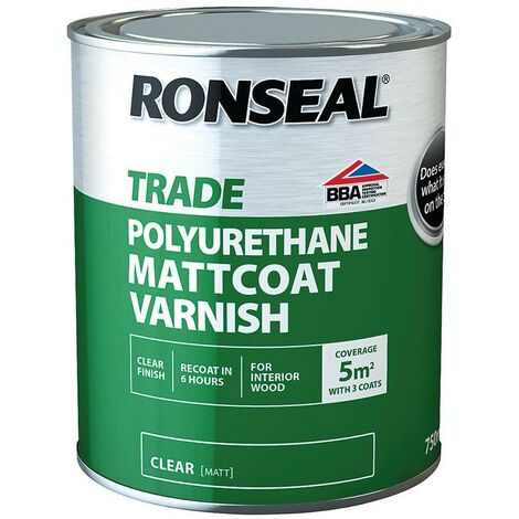 Ronseal Trade Polyurethane - Matt Coat Matt - 2.5L