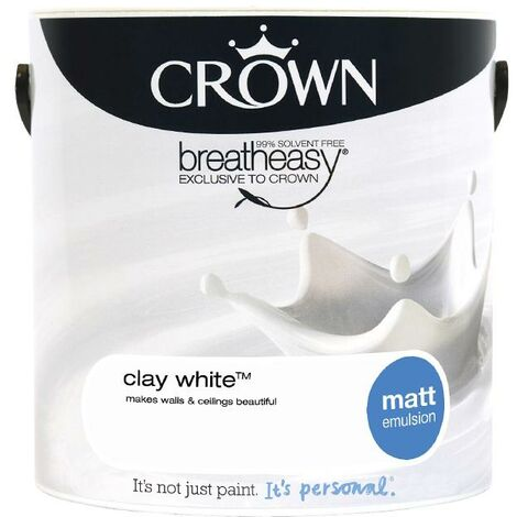 Crown Matt Breatheasy Solvent Free - Clay White - 2.5L