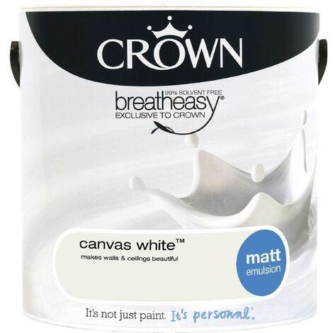 Crown Matt Breatheasy Solvent Free - Canvas White - 2.5L