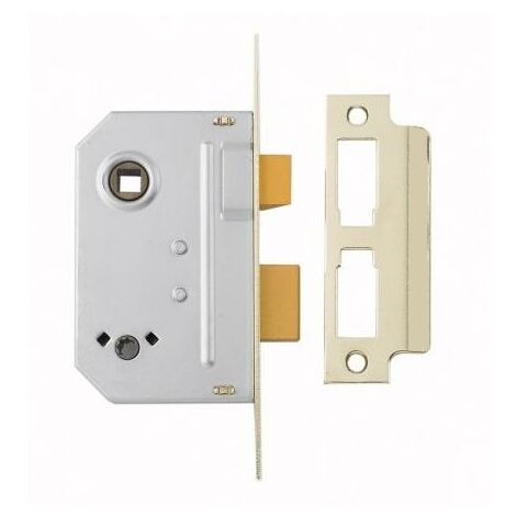 "Yale Locks - Polished Brass 2 Bathroom Sashlock - 2.5"" Size"