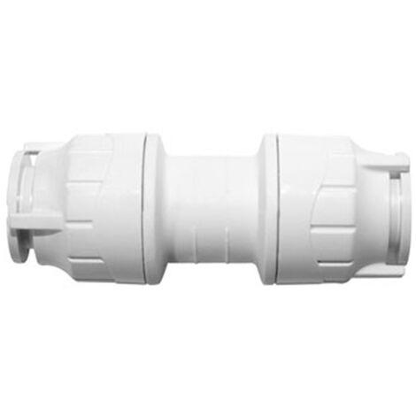 Oracstar PolyFit White 15mm Straight Coupler Plumbing Fitting - Single