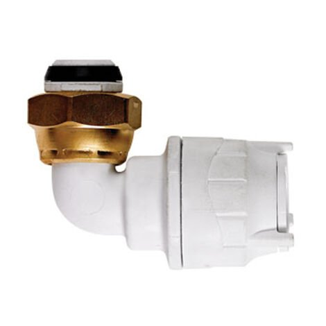 """Oracstar PolyFit 15mm x 1/2"""" Bent Tap Connector For Plumbing"""