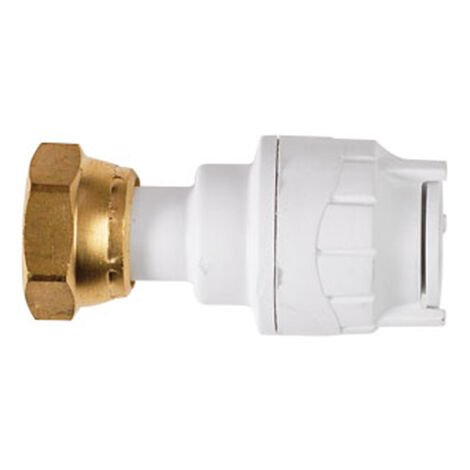 """Oracstar PolyFit 15mm x 3/4"""" White Straight Tap Connector Plumbing Fitting"""