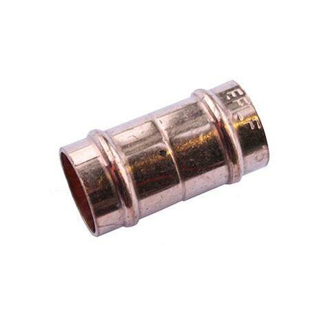 Oracstar 22mm Bronze Straight Coupler Solder Ring Fittings - Pack of 2 For Plumbing