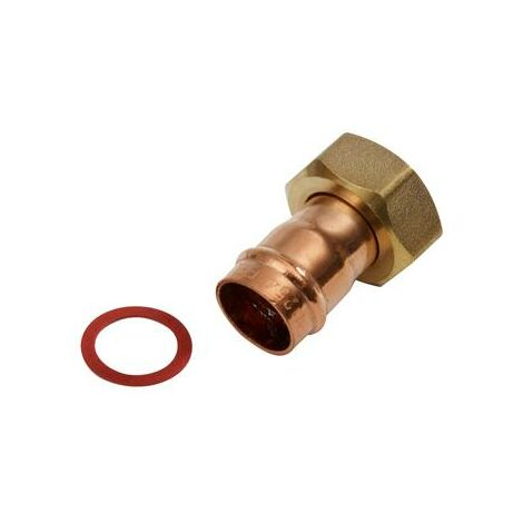 """Oracstar Bronze 15mm x 1/2"""" Tap Connector Straight Solder Ring - Pack of 2"""