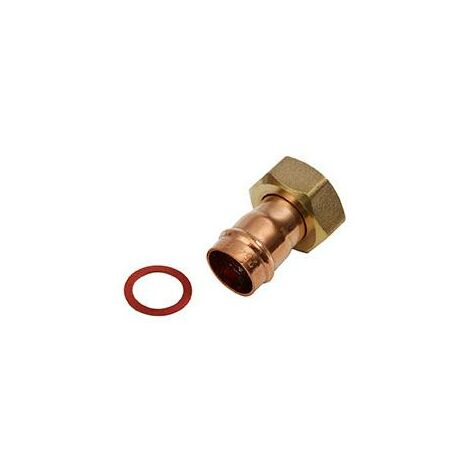 "Oracstar Bronze 22mm x 3/4"" Tap Connector Straight Solder Ring"