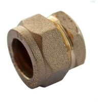 Oracstar 22mm Brass Compression Stop End For Plumbing