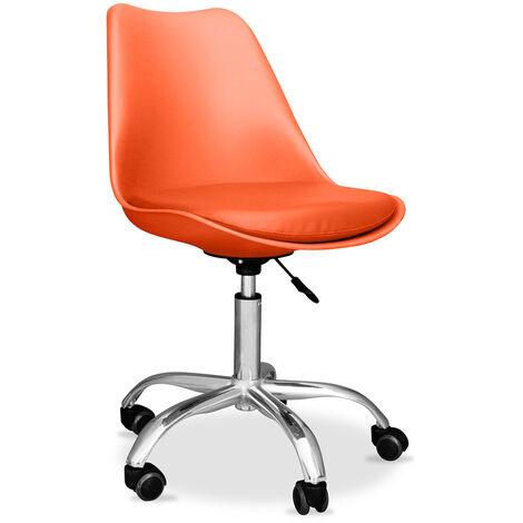 Tulip Bürodrehstuhl mit Rädern Orange