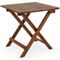 Table basse pliante en bois - Tables jardin d\'\'appoint - 46x46cm pliable -  Acacia