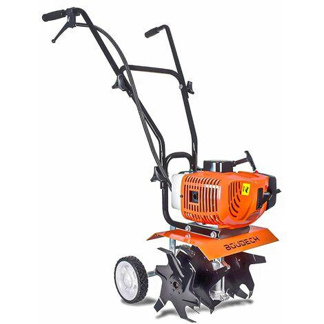Motobineuse Motoculteur 2 temps compact 52Cc et 1,2Hp largeur de travail 30cm