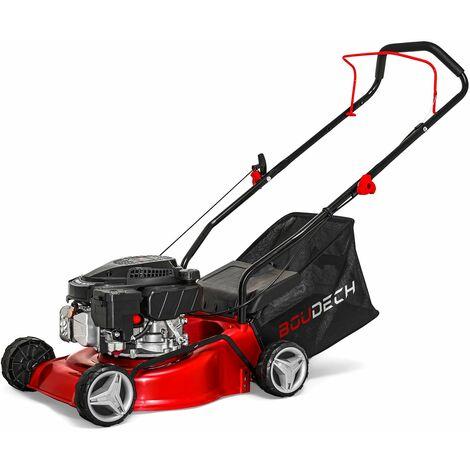 Tondeuse poussée avec moteur à essence 123cc 1.8KW OHV 4 temps largeur de coupe 400mm