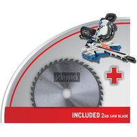 Scheppach HM216 Sliding Mitre Saw   2x blades - 2000w - 230v