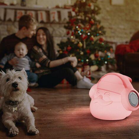 Lampe de Noél avec 2 Hauts-parleurs MOOVERE Batterie Rechargeable décoration illuminé LED/RGB télécommande