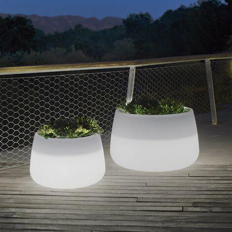 Pot lumineux MOOVERE 60 Solaire+Batterie Rechargeable