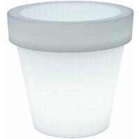 Pot de fleurs lumineux MOOVERE 45 Solaire+Batterie rechargeable
