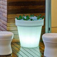 Pot de fleurs lumineux MOOVERE 60 blanc translucide