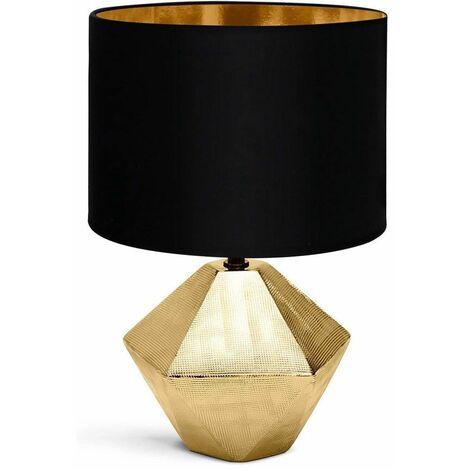 Lámpara de sobremesa Cerámica Dorada E14 32 cm