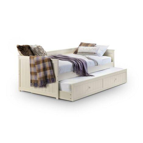 Loretta 3ft Single 90 x 190 STONE WHITE Day Bed & Underbed