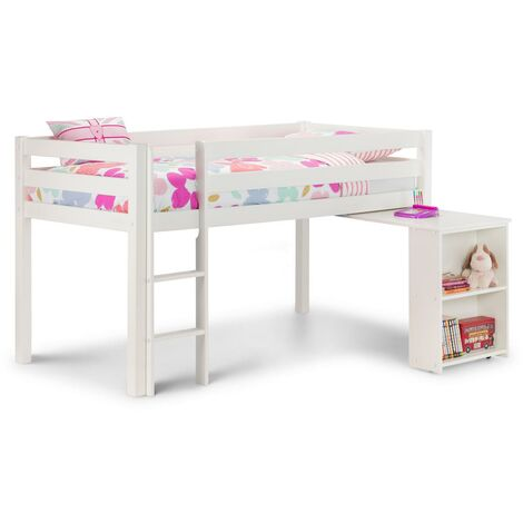 Georgianna Surf White Children'S Cabin Bed With Desk - 3ft Single 90 x 190 - Tent Sold Seperately