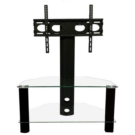 """Alphason Century Cantilever Black 800 TV Stand Unit For Up To 50"""" Screen"""