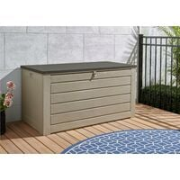 COSCO Outdoor Extra Large Deck Storage Garden Box Tan Brown