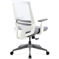 Mc Haus - Vulcano Siege de bureau reglable Ergonomie Travail Office Bianco