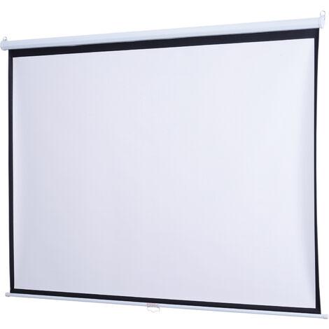 Homcom Schermo di Proiezione a Parete 120 Pollici 244x183cm