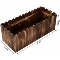 Outsunny Fioriera Box Rettangolare per Piante in Legno di Abete, 80x33x30cm